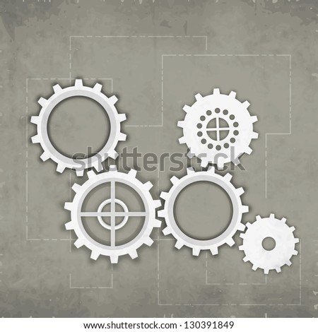 Abstract business background with cog wheel. EPS 10. - stock vector