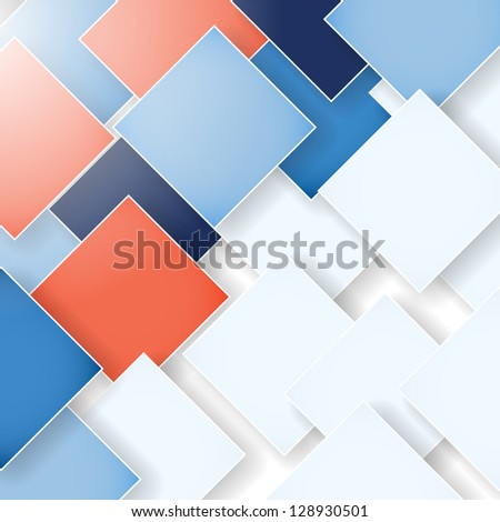 abstract business background with rhombus - stock vector