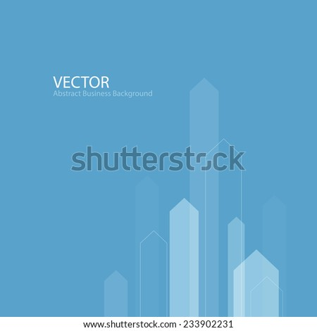 Abstract Business Background with Stylized Arrows to Up. For Cover Book, Brochure, Annual Report etc - stock vector