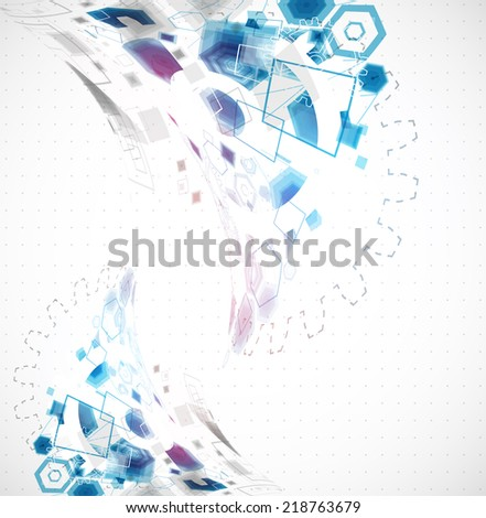 Abstract business background with technological elements - stock vector
