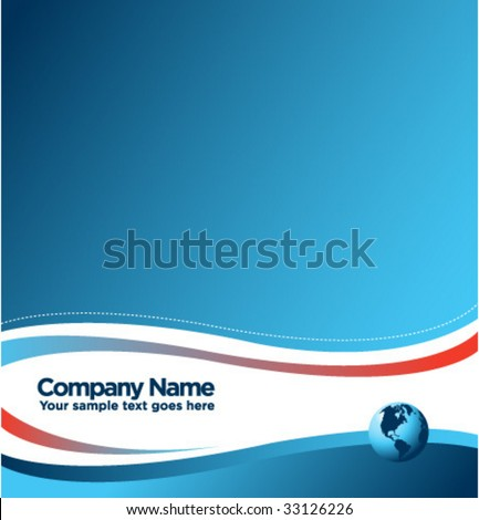 Abstract business blue background - stock vector