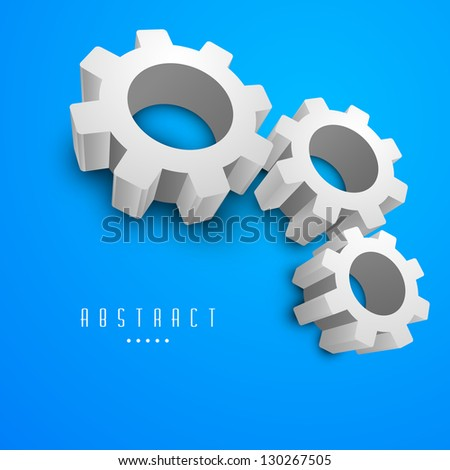 Abstract business blue background with cog wheel. EPS 10. - stock vector