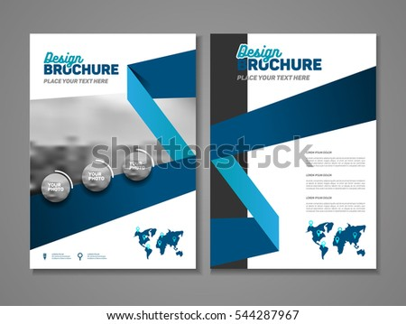 Abstract business brochure design vector template stock for Basic brochure template