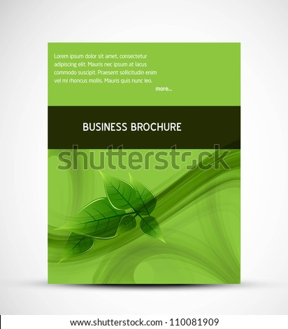 abstract business brochure green lives vector - stock vector