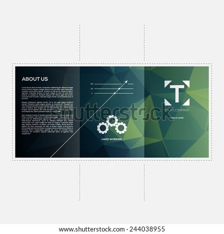 Abstract Business Brochure Template Vector Design | EPS10 Layout - stock vector