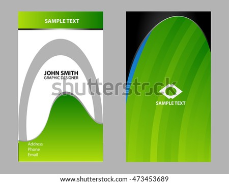 Abstract business card design templates