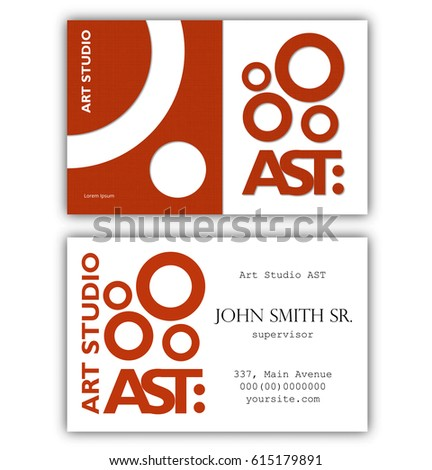 Abstract Business Card Template Art Studio Stock Vector - Uk business card template