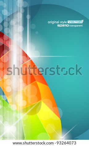Abstract Business Design for futuristic poster or business science flyer. - stock vector