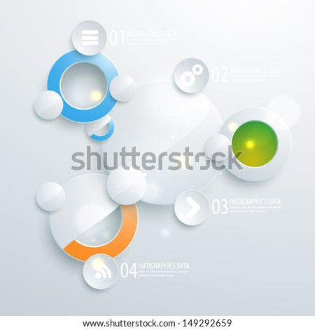Abstract business geometrical design with circles. Vector illustration for your business presentation - stock vector