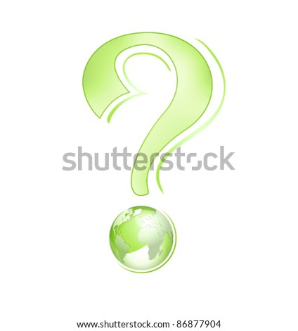 Abstract business globe design - environment concept with green globe against white background - stock vector