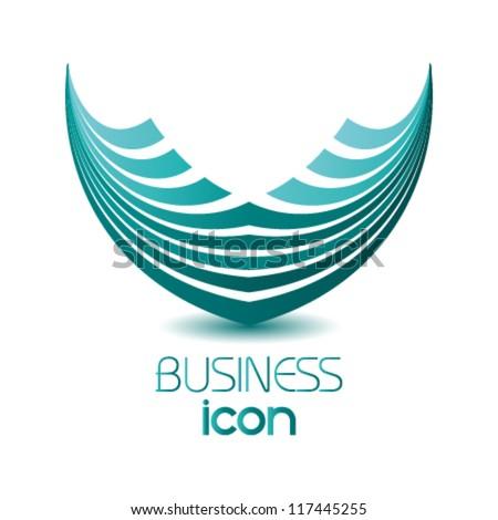 abstract business icon, logo design - stock vector