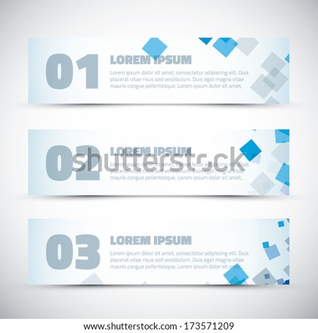 Abstract business infographic vector option banners - stock vector