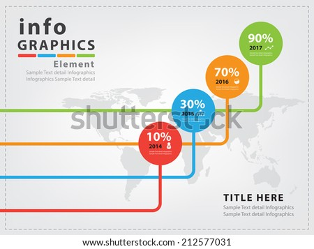 Abstract business infographics Vector Design