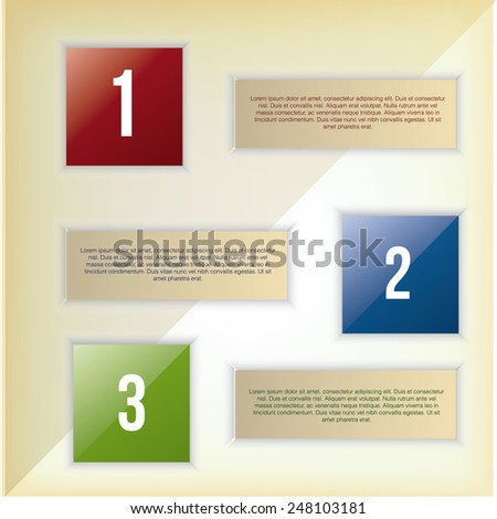 abstract business infographics with text and colors