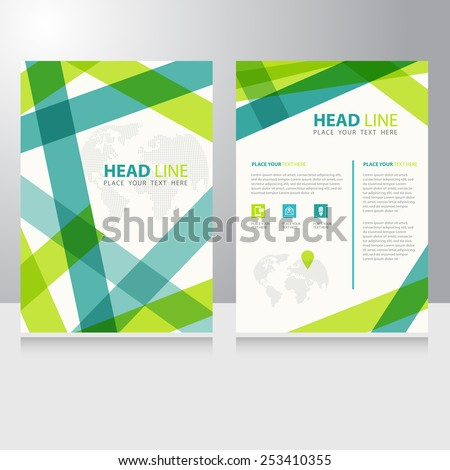 Abstract Business internet online communication Brochure Flyer design vector template - stock vector