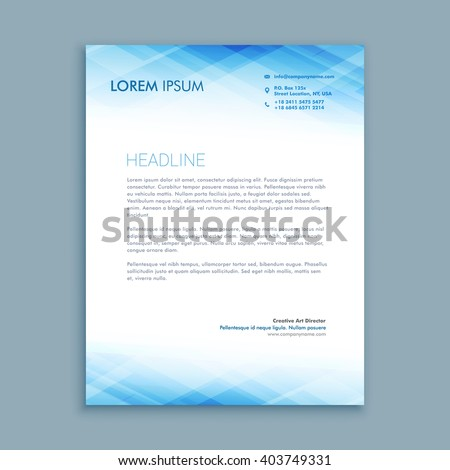 Letterhead Template Stock Images RoyaltyFree Images  Vectors