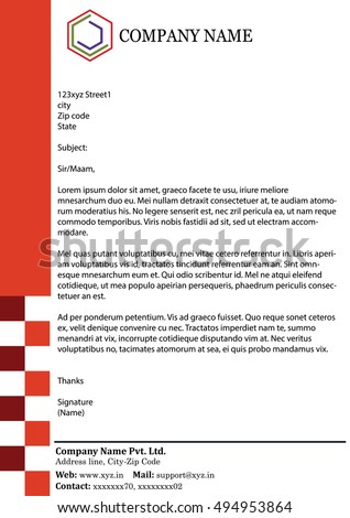 Abstract Business Letterhead Template  Business Letter Heading Template