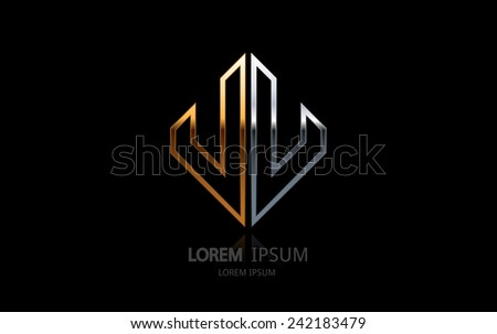 Abstract business logo. Vector logotype design. - stock vector