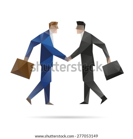 Abstract business men, vector illustration - stock vector