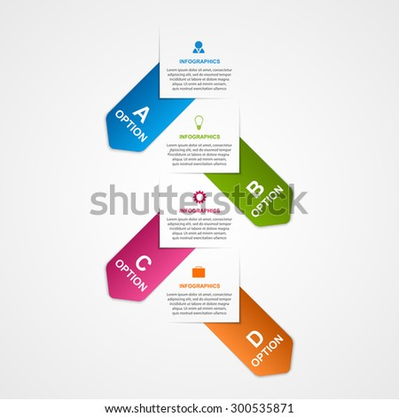 Abstract business options infographics template. - stock vector