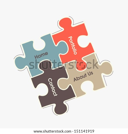 Abstract business puzzle background. - stock vector