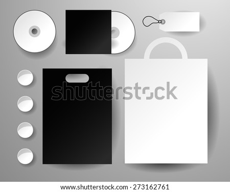 Abstract  business set. Corporate identity templates, disk, package