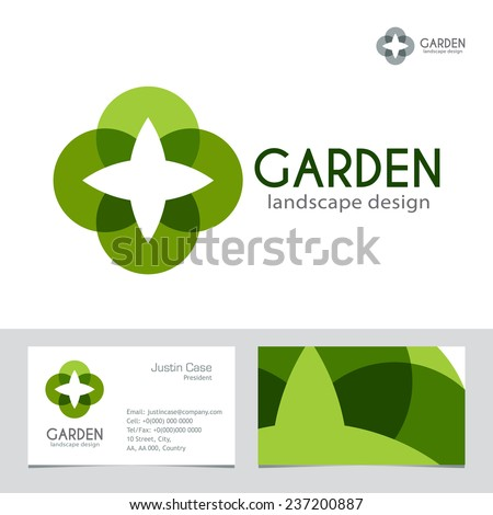 abstract business sign business card vector stock vector 237200887