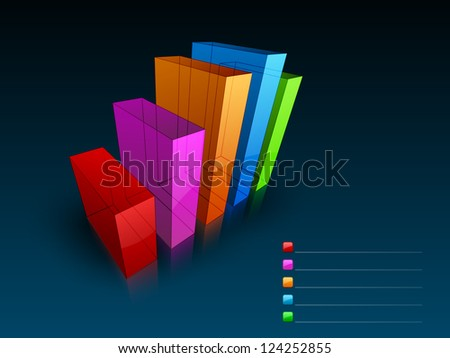Abstract business statistics, business chart or business diagram background. EPS 10. - stock vector