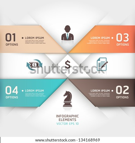 Abstract business steb origami style options banner. Vector illustration. can be used for workflow layout, diagram, number options, step up options, web design, infographics. - stock vector