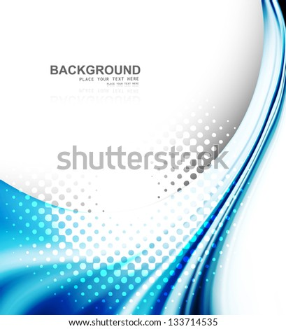 abstract business technology colorful texture blue wave vector - stock vector