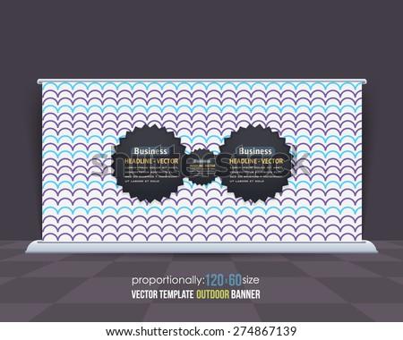 Abstract Business Theme Outdoor Banner or Horizontal Website Banner Design, Advertising Vector Design Template  - stock vector