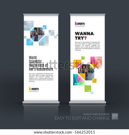 Abstract Business Vector Set Modern Roll Stock-Vektorgrafik ...