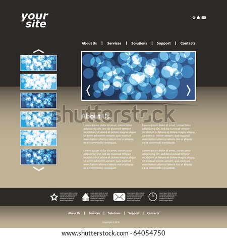 Abstract business web site design template vector - stock vector