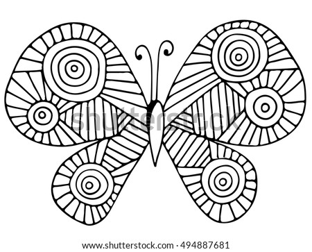 Abstract Butterfly Coloring Pages on Plant Life Cycle Book