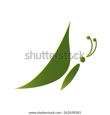 Abstract butterfly shape, vector illustration EPS10. - stock vector
