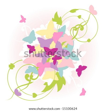 abstract butterfly vector background - stock vector