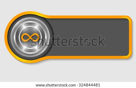 Abstract button for your white text and infinity symbol - stock vector