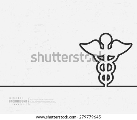 Abstract caduceus vector background. For web and mobile applications, illustration template design, creative business info graphic, brochure, banner, presentation, concept poster, cover, booklet, document. - stock vector