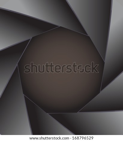 Abstract camera with place for text - stock vector