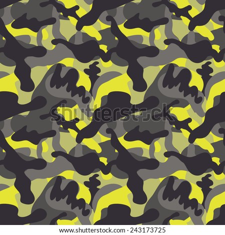 Abstract camouflage texture. Seamless pattern in vector. Urban wallpaper. - stock vector