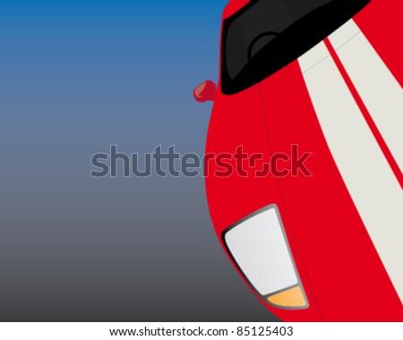 abstract car illustration - stock vector