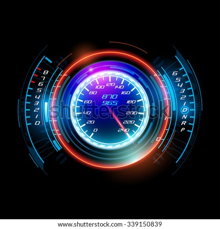 Abstract car speedometer - stock vector
