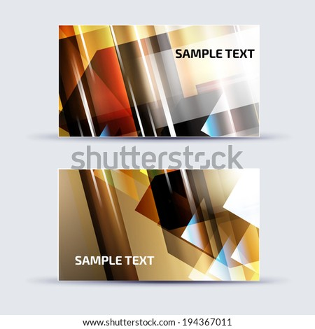 Abstract card template for business artwork, with place for your text  - stock vector