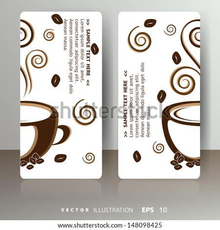 abstract card with cup of coffee or tea - stock vector