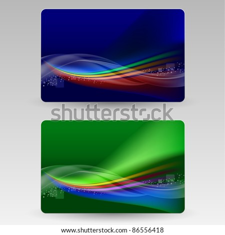 Abstract cards. Illustration for design on gray background - stock vector