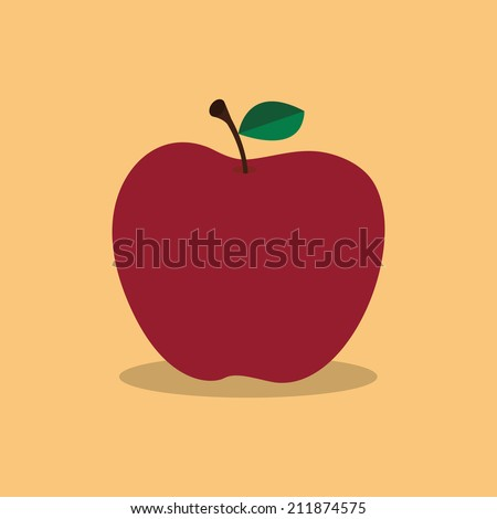 abstract cartoon apple on a light color background