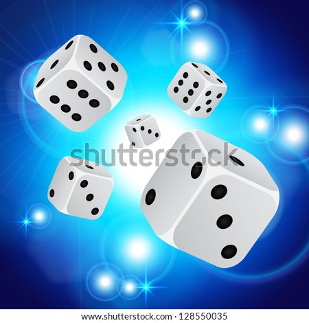 Abstract casino background with dices. EPS10 vector - stock vector