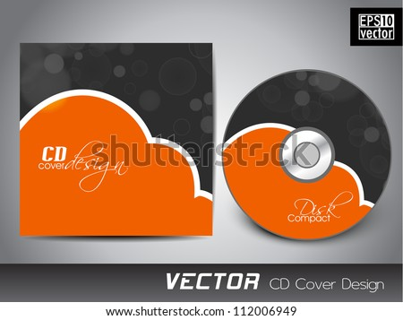 Abstract cd cover design template.Vector illustration Eps 10. - stock vector