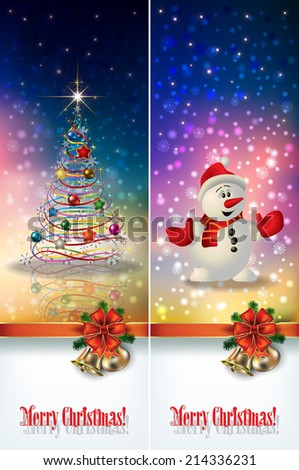 abstract celebration greetings with Christmas illustrative elements - stock vector