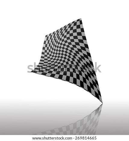 abstract Checkered flag vector - stock vector